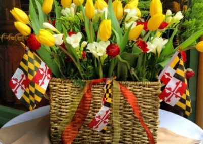 May Day Basket Tulips